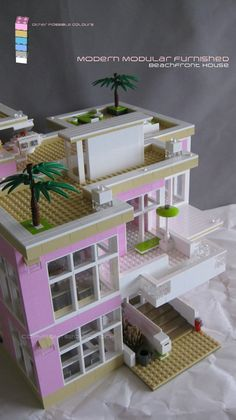 Please vote for my #modern #modular #lego #house on #Lego #Cuusoo Other colours are proposed. #architecture #moc #pink #building http://lego.cuusoo.com/ideas/view/37875