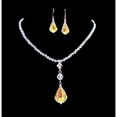Price :$37.49 AB Swarovski Crystal AB Baroque Pendant Irridescent Drop Down Necklace Material Used : Genuine Swarovski AB 4mm Bicone Crystals with round 8mm 8mm bicone & AB Baroque Pendant Necklace Set Necklace Length : 16 inches with extension 2 inches lobster clasp for adjustment Earrings : Sterling Silver 92.5 Hook with AB Baroque Crystals 1 inch long