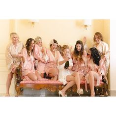 BRIDESMAID ROBES BLUSH laceHandmade to Order by MaySilk on Etsy, $45.00 LOVE These with the lace trim!!