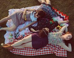 Vintage afghan picnic blankets