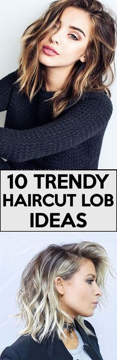 Trendy Lob Haircut Ideas for 2017 - lob haircut color balayage | lob haircut for round face