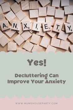 Yes decluttering can help improve your anxiety and I'm going to tell you how. One key thing is finding which rooms cause you most stress Alcohol And Mental Health, Working Mums, Anxiety Treatment, Mummy Bloggers, Coping Skills, Stress Management, Decluttering, House Party, Positive Affirmations
