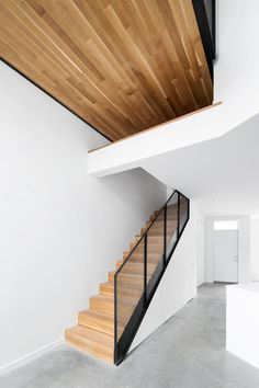 steel and wood staircase // Coleraine Residence by Naturehumaine