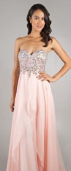 Elegant Sleeveless Floor Natural Sweetheart Chiffon Evening Dresses In Stock lkxdresses12545tty #longpromdress #promdress