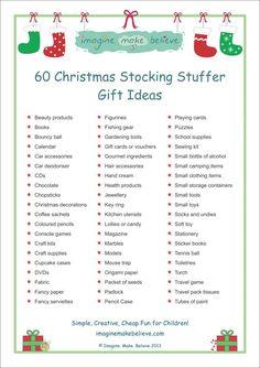 Christmas Stocking Stuffer Ideas - Imagine. Make. Believe, stocking filler, stocking, stuffer, fillers gifts, trinkets, goodies, ideas: