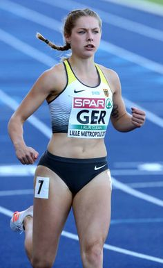 c2532d1b1c Gina Luckenkemper of Germany competes in the 100m during the 2017 European  Athletics Team Championships at