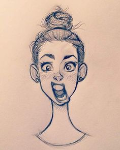 "521 curtidas, 15 comentários - Cameron Mark (@cameronmarkart) no Instagram: ""#cameronmark #art #design #illustration #drawing #doodle #sketch #girl #bun #expression"""
