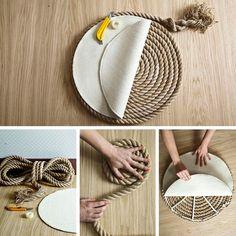 Un elegante tappeto di corda fai da te