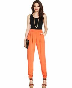 XOXO High-Waist Tapered Pants