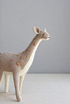 giraffe / soft sculpture animal by ohalbatross on Etsy