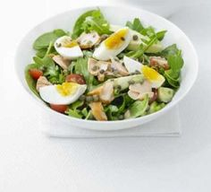 Hot-smoked salmon & egg salad