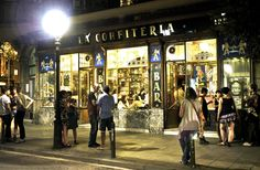 La Confiteria Calle San Pau, 128-This former sweetshop is like a trip into the 19th century. Rather peaceful, it's perfect to kick of a night smoothly or to end it in a cosy way. A classic.  #lolagracetour #barcelona #bar