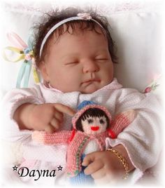 Reborn Baby girl Dayna.. Snookie Face doll by Berenguer...5 lbs..20 inches...rooted hair..Created by me..2011...