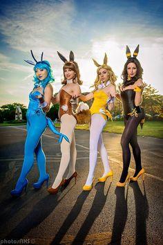 Cosplay: Pokémon Bunnies  Cosplayer: Stella Chuu - Vaporeon Bindi Smalls - Eevee Sperren Cosplay - Jolteon Vanity Fox - Umbreon