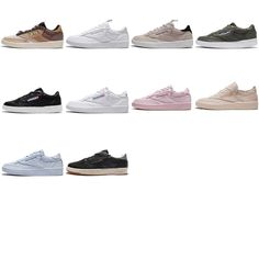 533d83a2684b0 Reebok Club C 85 Low Leather   Suede Men Classic Shoes Sneakers Trainers  Pick 1