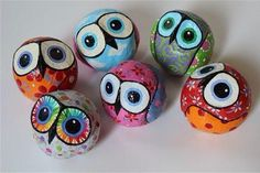 Adorable round owls ~``