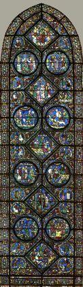 Vitrail de la Vie de st Eustache - cathedrale de chartre