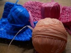 Methods of Making Plarn... Yarn from plastic bags to crochet, well, new plastic bags!