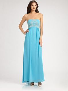 Sue Wong - Strapless Gown - Saks.com