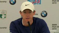 Rory McIlroy talks to the media about dragging himself 'off the sofa' to tee it up at the BMW PGA Championship and inch closer to world No. 1 the rest of the year.