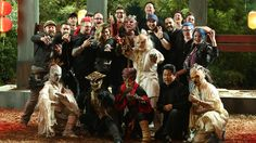 """S11E14 """"Battle of the Beasts"""" - a group photo of the cast of Season 11's Face Off and their creations."""