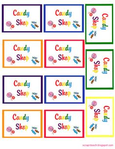 free Rainbow candyland printable