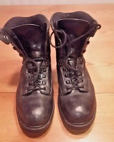 VTG Red Wing Worx Work Boots Black 9W 5585 Safety EH Rated Steel Toe #RedWing #WorkSafety