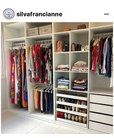 Bedroom Built In Wardrobe, Bedroom Closet Design, Bedroom Furniture Design, Bedroom Wardrobe, Home Room Design, Wardrobe Storage, Clothing Storage, Small Wardrobe, Master Closet