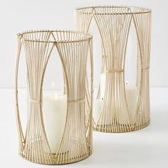 The rattan home decor trend has made a come back in a huge way. From rattan trays to stools to mirrors here are 11 Best Rattan Home Decor to beautifully decorate your home! Wedding Lanterns, Wedding Lighting, Isle Of Man, Diy Garden Decor, Vases Decor, Pillar Candles, White Candles, Dollar Stores, Tea Lights