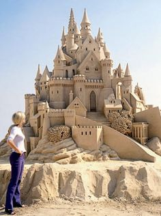 Fairy-tale palace sand sculpture