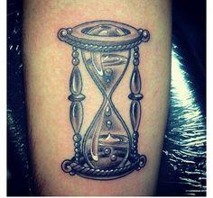 Nice hourglass tattoo