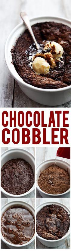 Chocolate Cobbler   Creme de la Crumb