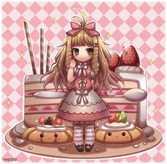 Kawaii Pastry Chibi by emperpep.deviantart.com on @DeviantArt