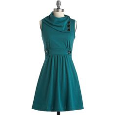 Sleeveless A-line Coach Tour Dress in Sea Blue from ModCloth. Shop more products from ModCloth on Wanelo. Pretty Outfits, Pretty Dresses, Cute Outfits, How To Have Style, Style Me, Jade Dress, Green Dress, Coach Tours, Casual Dresses