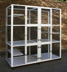 Animal Cages - Standard Models and Custom Enclosures - 3 Level Animal Cages