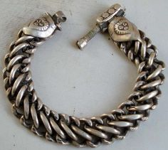 Vintage silver bracelet/anklet ~ Toda ~ from Rajasthan. Ethnic Jewelry, Hippie Jewelry, Indian Jewelry, Jewelry Art, Antique Jewelry, Bracelets For Men, Silver Bracelets, Bangle Bracelets, Silver Jewelry