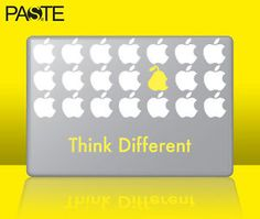 adesivo macbook think different Mac Stickers, Macbook Stickers, Different, Geometry, Apple Art, Concept, Shapes, Diy Decoration, Pc Computer