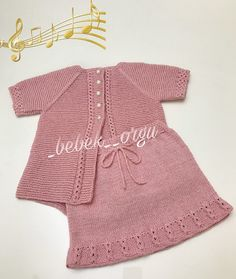 Good evening … our vest with a nice skirt … with love … - Babykleidung Pullover Upcycling, Crochet Baby, Knit Crochet, Knitted Coat, Crochet Videos, Easy Knitting, Girls Sweaters, Baby Knitting Patterns, Baby Dress
