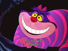 This was the other inspirationish for the robot thingy. Cheshire Cat. woo.