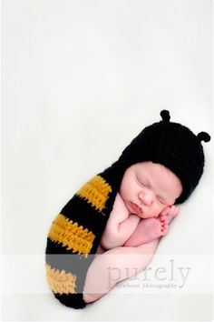 Little bee. I won't have one this little come Halloween, but how very sweet!!!