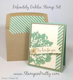 stampin up definitely dahlia sympathy card mary fish stamping pretty blog pinterest