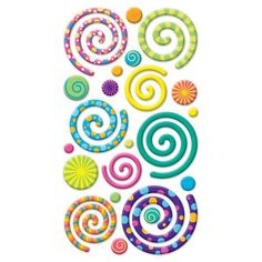Sticko® Swirly Gigs Puffy Stickers