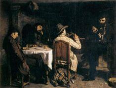 "Gustave Courbet - ""Dopopranzo a Ornans"", 1848-1849."