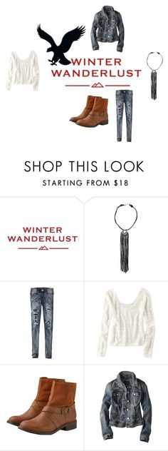 """""""Winter Wanderlust with American Eagle: Contest Entry"""" by joellesmolenaers on Polyvore featuring mode, American Eagle Outfitters en aeostyle"""