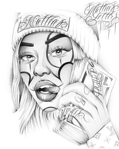 Chicano Tattoos Gangsters, Chicano Art Tattoos, Chicano Drawings, Gangsta Tattoos, Gangster Drawings, Badass Drawings, Tatoo Design, Tattoo Design Drawings, Tattoo Sketches