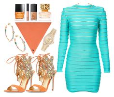 """""""DAY PARTY"""" by nikkifresh72 ❤ liked on Polyvore featuring Balmain, René Caovilla, M.Hulot, NARS Cosmetics, Sharon Khazzam, Tory Burch, Butter London and Rolex"""