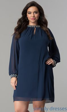Shop short plus-size dresses and short dresses in plus sizes at PromGirl. Plus-size homecoming dresses, cocktail party plus dresses, and short plus-size dresses for prom. Plus Size Holiday Dresses, Plus Size Formal Dresses, Trendy Dresses, Plus Size Dresses, Casual Dresses, Short Dresses, Full Figure Dress, Long Sleeve Chiffon Dress, Latest African Fashion Dresses