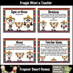 Skill: Children will match each idiom with its literal meaning.Grade Level: Second Grade through Fifth Grade, Special Education, ESLYou wil...