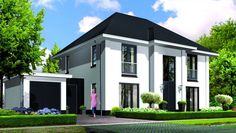 Modern Exterior, Exterior Design, Building Design, Building A House, American Style House, Neoclassical Architecture, Contemporary House Plans, Transitional House, Sims House