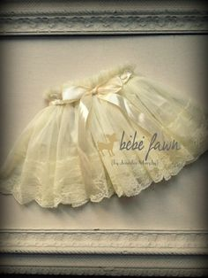 Featured in Treasury - Shabby Cream Skirt baby skirt, toddler lace skirt -girl lace skirt, special occasion dress, birthday, holiday couture. $18.95, via Etsy.